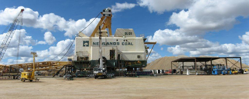 Buycrus 1370 Dragline maintenance overhaul