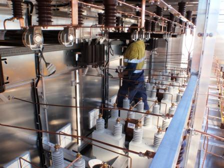 Installation of 3Mvar 11kV power factor correction at Middlemount Coal August 2013